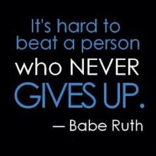 It's hard to beat a person...